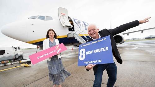 Mary Considine, CEO of Shannon Group and Ryanair's CEO Eddie Wilson