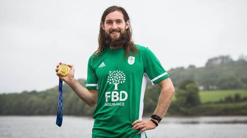 Tokyo 2020 Olympics gold medallist Paul O'Donovan, celebrating his Gold Medal win at Skibbereen Rowing Club