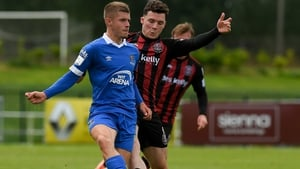Niall O'Keeffe in action against Ali Coote