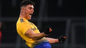 Jason Doory of Roscommon celebrates at the final whistle