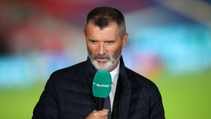 Roy Keane was working for ITV at Wembley