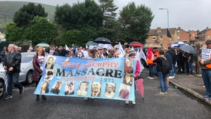 A march has taken place in west Belfast to mark the 50th anniversary of the deaths of 10 innocent people