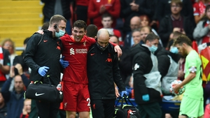 Liverpool defender Andy Robertson picked up the injury late in the first half of their friendly draw against Athletic Bilbao