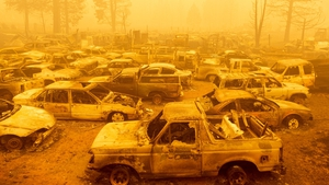 The Dixie fire has destroyed dozens of cars and homes in Greenville
