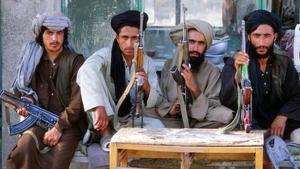 Taliban fighters in Uruzgan, Afghanistan. Photo: Ton Koene/Alamy