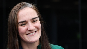 Kellie Harrington was all smiles at her homecoming event in Dublin this afternoon