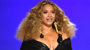 """Beyoncé (pictured at this year's Grammy Awards) - """"There's nothing like the amount of love, passion, and healing that I feel in the recording studio"""""""