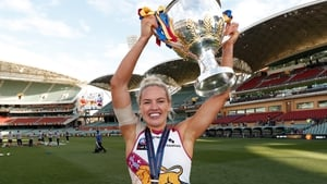 Orla O'Dwyer became the second Irish woman to lift the Premiership trophy in April