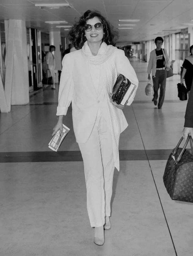Style icons like Bianca Jagger helped make trousers more mainstream in the 1970s (Alamy/PA)