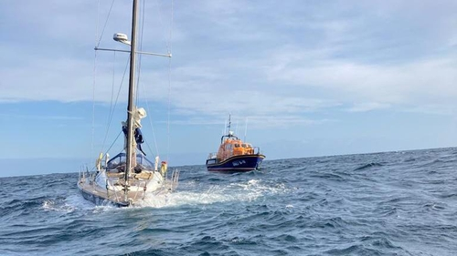 The yacht had been travelling from Dublin to Vigo in Spain and had left Kilmore Quay yesterday afternoon (Pic: RNLI)