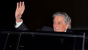 Tony Bennett leaving Radio City Music Hall in New York City on 3 August