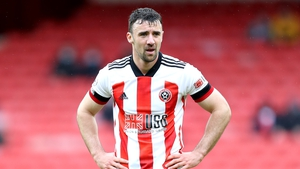 Enda Stevens in action for Sheffield United in May