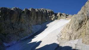 The Calderone ice formation in Italy is melting away