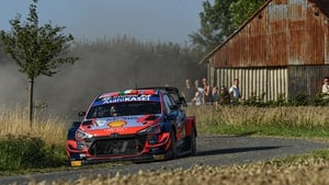 Craig Breen and Paul Nagle in action during the opening day of stages in Ypres