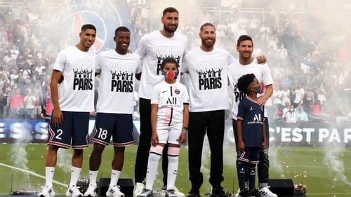 PSG had the new boys on show
