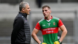 James Horan was unhappy with the challenge on Eoghan McLaughlin (right)