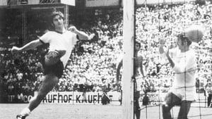 Muller scoring against England at the 1970 World Cup