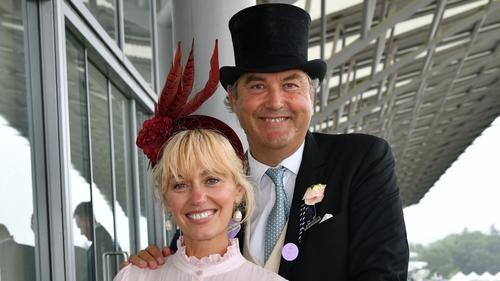 Clodagh McKenna and Harry Herbert pose during Royal Ascot 2021
