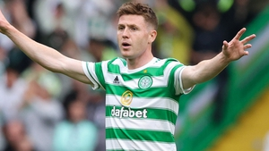 James McCarthy made his Celtic debut against Hearts