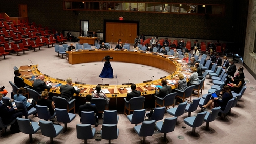 Simon Coveney was expected to chair a meeting of the UN Security Council
