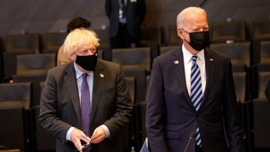 Boris Johnson and Joe Biden 'resolved to continue working closely together' (File)