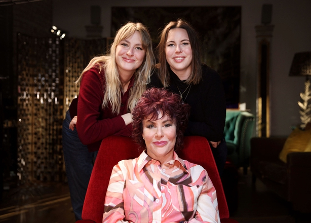 Ruby Wax with her daughters Marina Bye and Madeleine Bye (BBC / Burning Bright Productions / Phil Summers / PA)