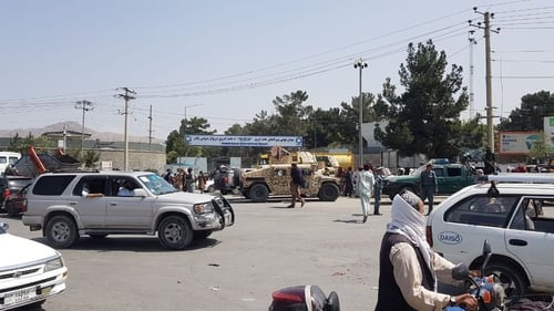 Thousands of people are trying to get out of Afghanistan