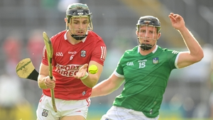 Mark Coleman of Cork in action against Peter Casey of Limerick during the Munster hurling semi-final in July. Photo: Stephen McCarthy/Sportsfile