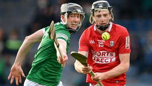 Jack O'Connor of Cork in action against Declan Hannon of Limerick during the Munster semi-final