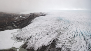 Melting from Greenland's ice sheet has caused around 25% of global sea level rise over the last few decades (File pic)