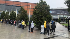 Queues form outside the SSE arena this morning