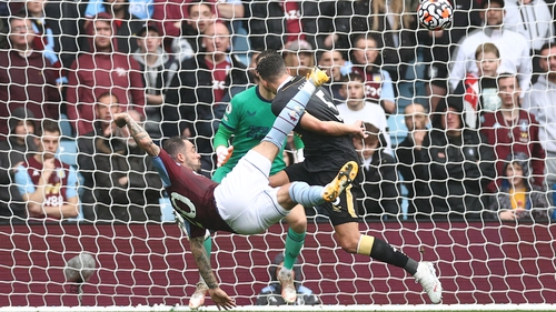 A spectacular Danny Ings strike handed Villa the lead