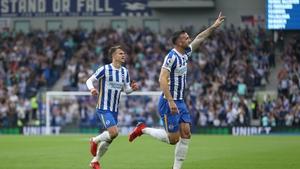 Shane Duffy heads home Brighton's opener against Watford