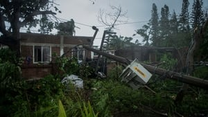 Many homes in the region were left destroyed or without electricity