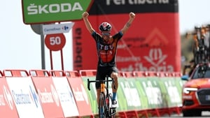 Damiano Caruso of Italy and Team Bahrain Victorious
