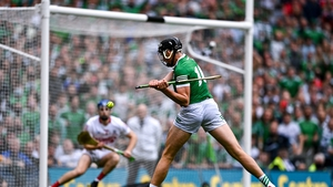 Gearóid Hegarty fires home the first of his two goals