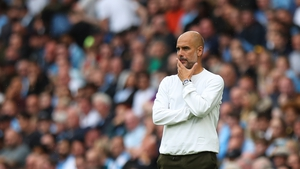 """Pep Guardiola said """"maybe"""" a striker will arrive before the window closes"""