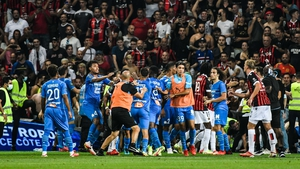 Nice v Marseille was abandoned after major crowd trouble