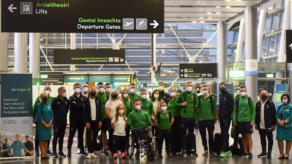 Team Ireland before their departure for Tokyo