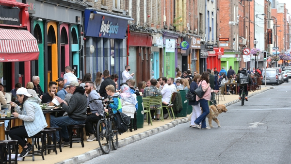 Capel Street outdoor dining during the pandemic