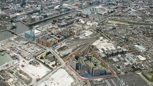 A computer generated image of the proposed Brick Yards development site in Dublin's North Docklands