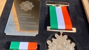 The medal presented posthumously to Detective Garda Richard Hyland