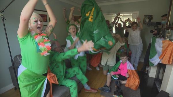 Ellen Keane's family and friends celebrate