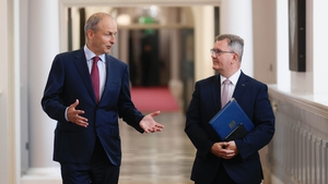 Micheál Martin and Jeffrey Donaldson at Government Buildings today (pic: Rollingnews.ie)