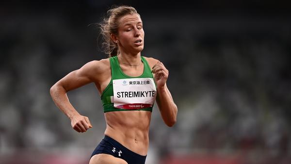 Greta Streimikyte during the T13 Women's 1500 metre final