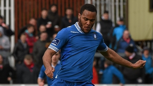 Sam Oji in action for Limerick in March 2014