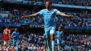 Gabriel Jesus celebrates City's third goal