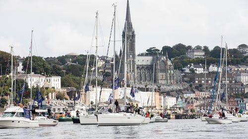 Today's maritime parade off Cobh