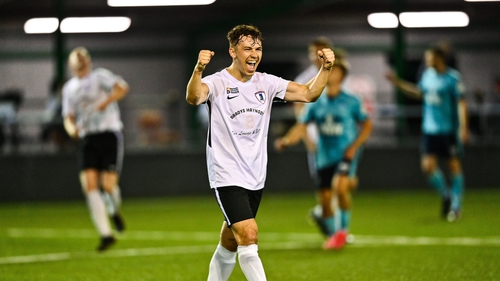 Jackson Ryan shows his delight at the final whistle