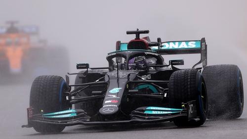 Lewis Hamilton's championship lead over Max Verstappen was cut to three points